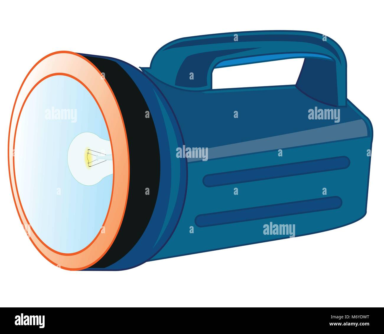 Flash-light with handle - Stock Vector