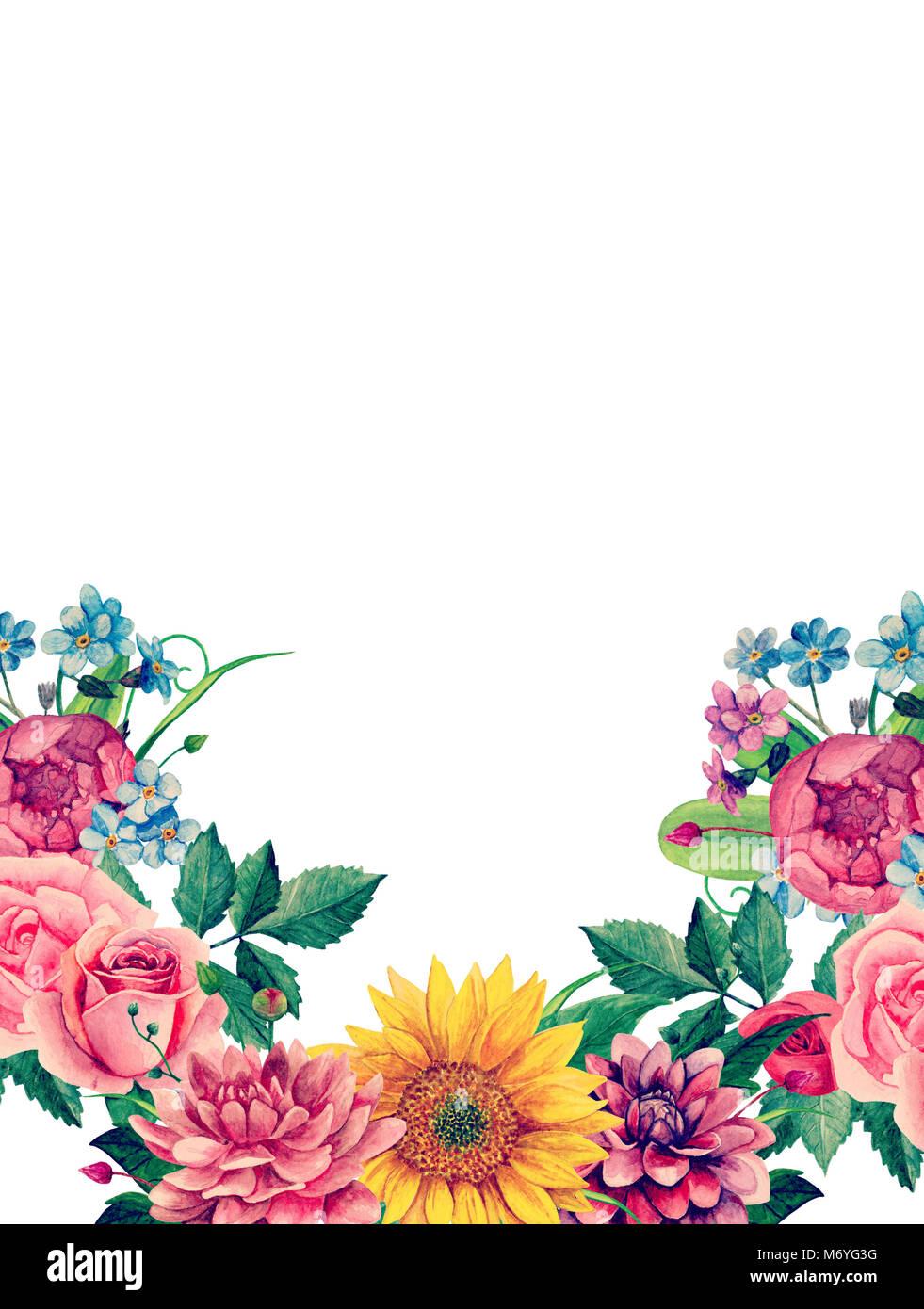 Watercolor boho flowers pink floral bouquet greeting card design watercolor boho flowers pink floral bouquet greeting card design template m4hsunfo
