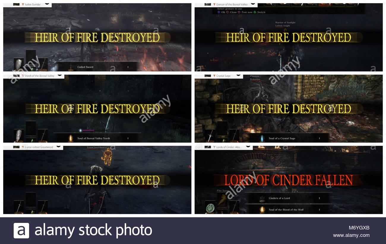 dark souls ps4 screenshot montage Stock Photo: 176397603 - Alamy