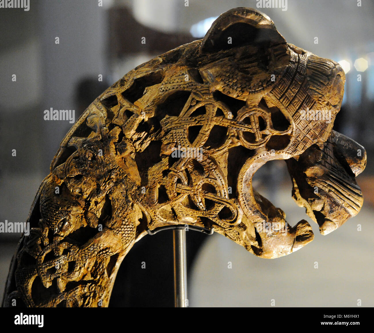 Animal-head Post Carved In Wood. Found In The Tomb Of The