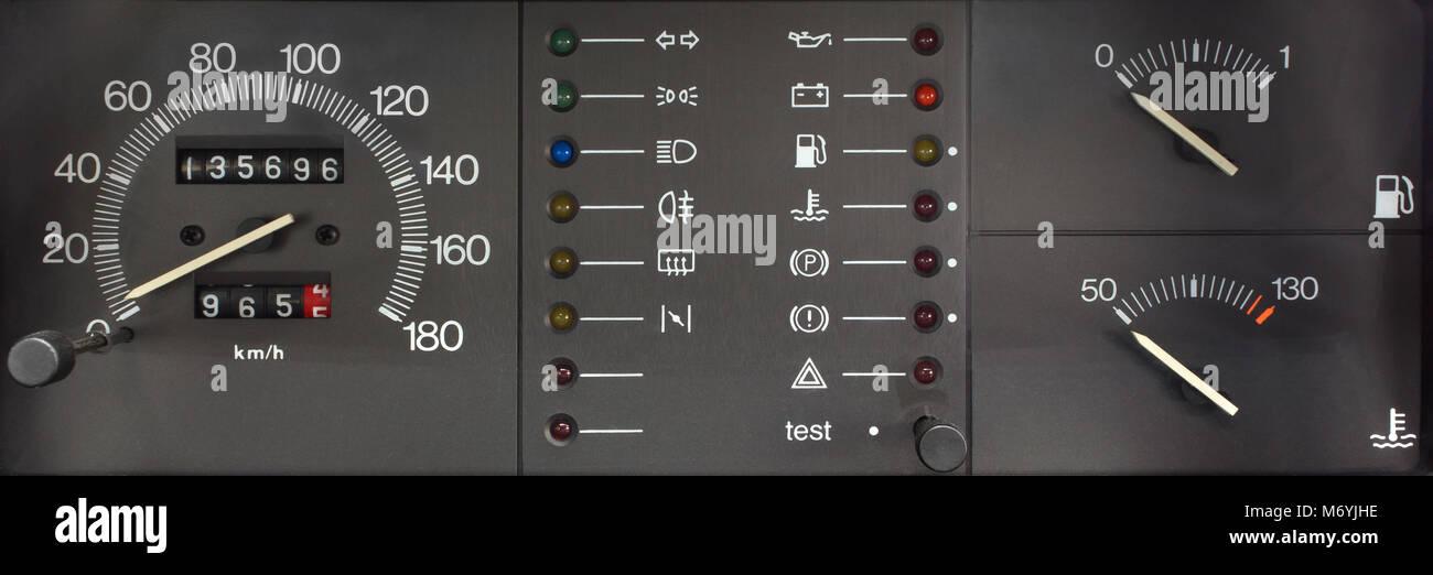 Car Dashboard Lights Stock Photos & Car Dashboard Lights Stock