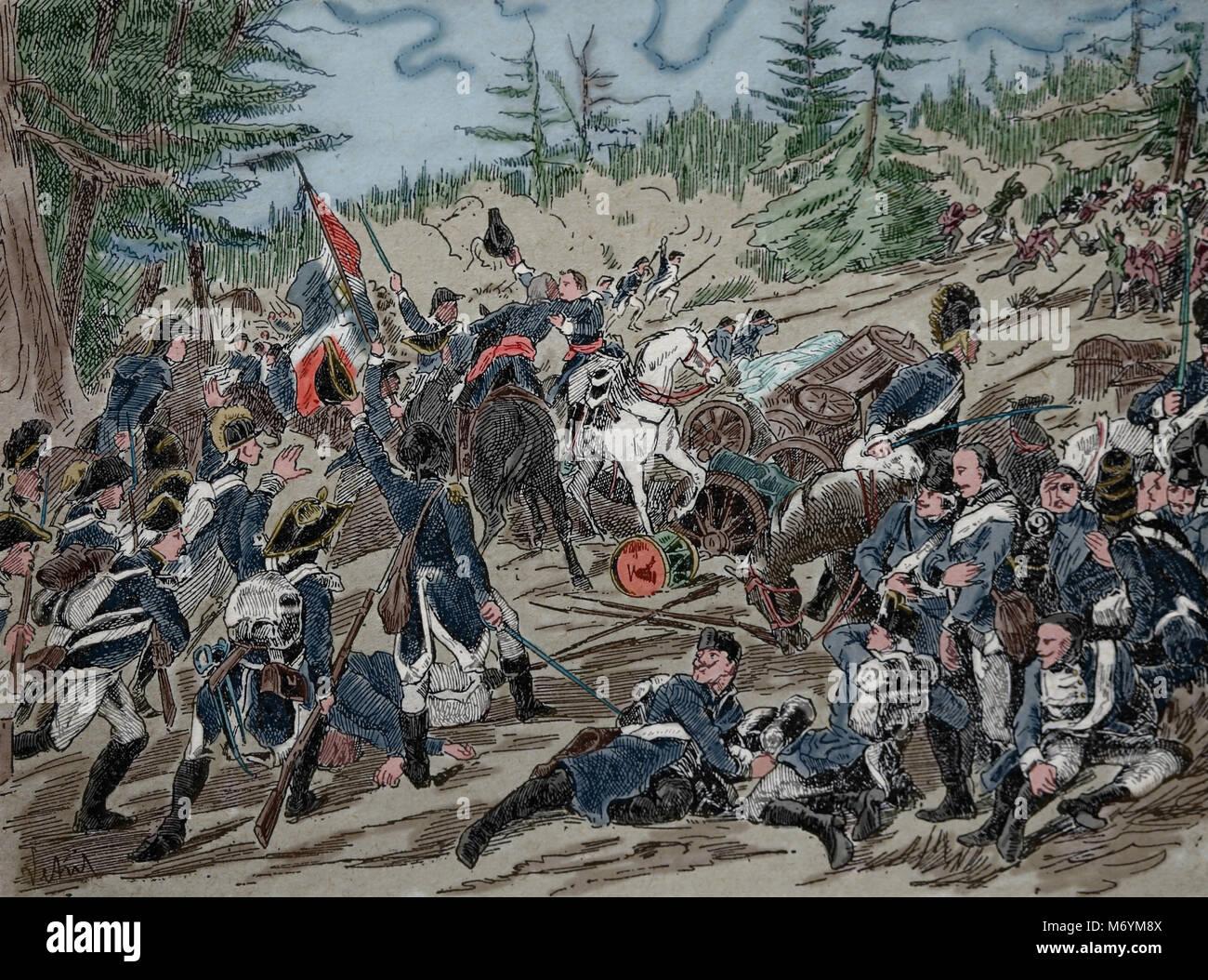 Battle of Hohenlinden, 3 December 1800, French Revolutionary Wars. Belligerents: France, Austria, Bavaria. - Stock Image