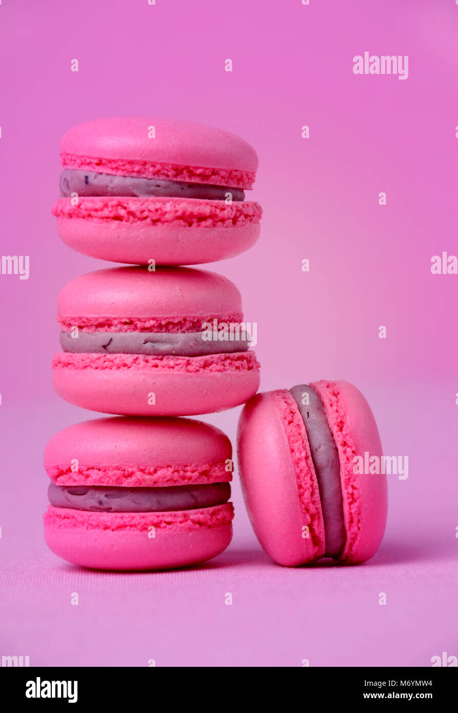 traditional french macarons – stock photo - Stock Image