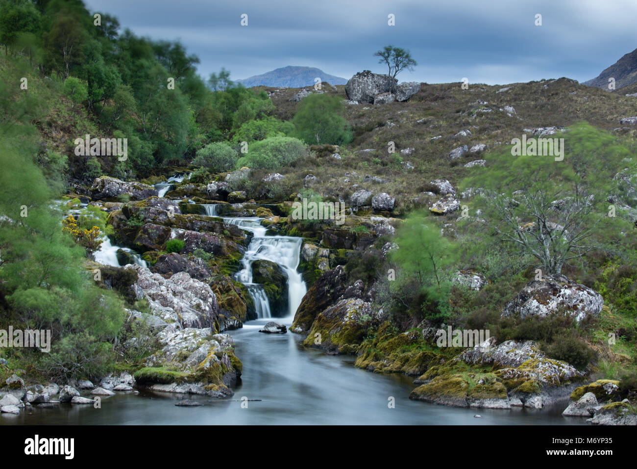 The Falls of Balgy, Loch Torridon, Wester Ross, Scotland, UK - Stock Image