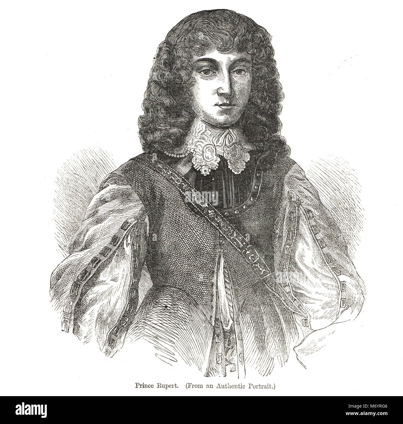 Prince Rupert of the Rhine, 1619–1682,   Cavalier cavalry commander during the English Civil War - Stock Image