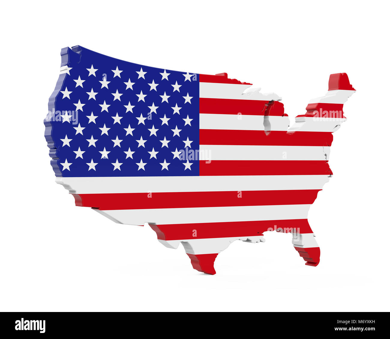 United States of America Map Flag Stock Photo: 176405253 - Alamy