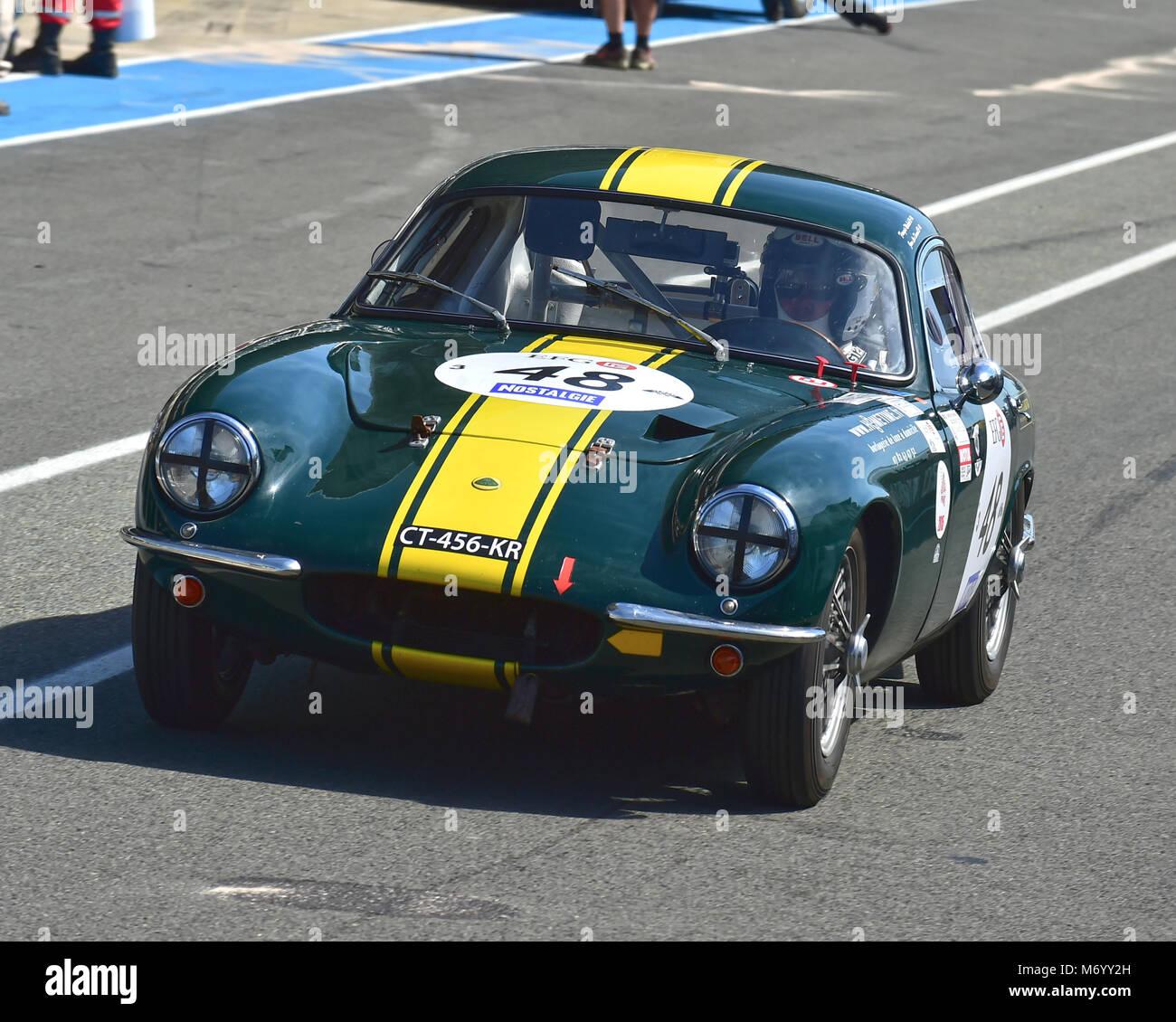 Jean-Luc Durand, Francois Marbeck, Lotus Elite, Le Mans Classic 2016, 2016, circuit racing,  Classic, classic cars, - Stock Image