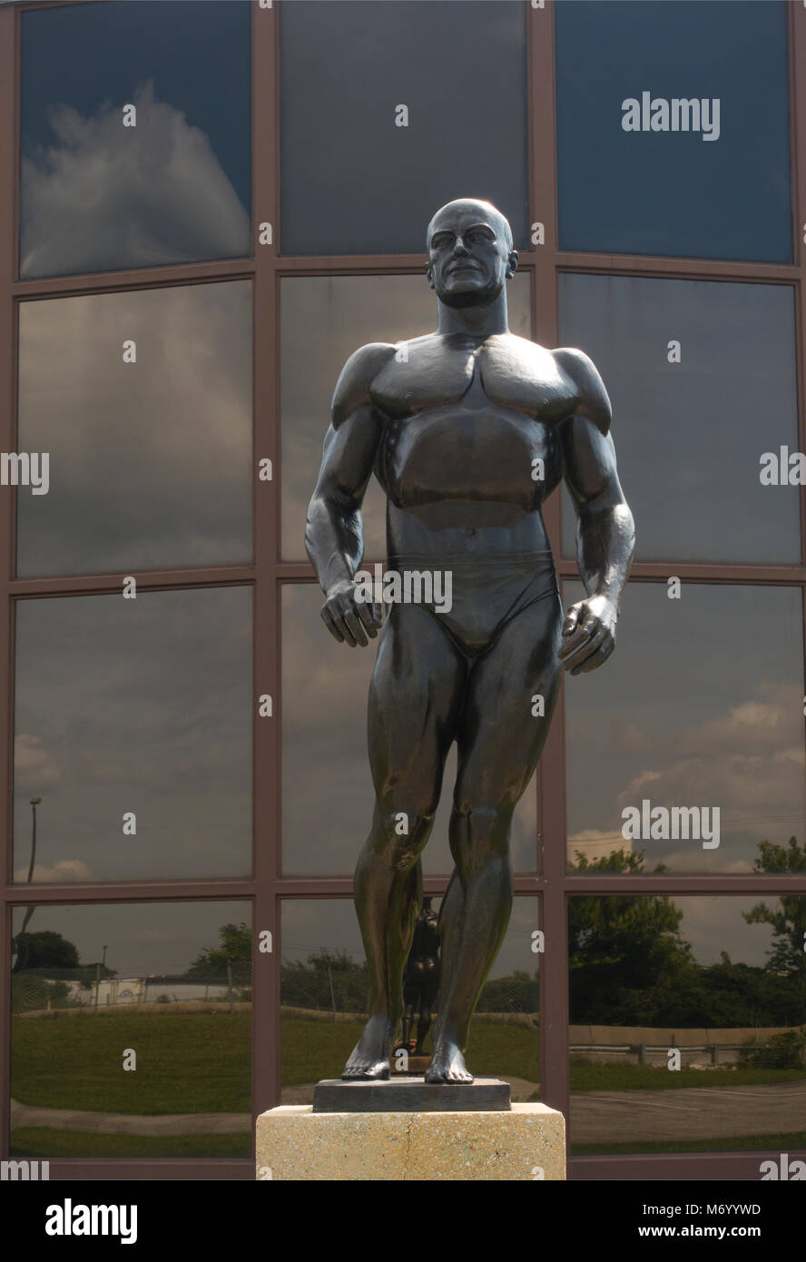 York Barbell weightlifting hall of fame in York PA - Stock Image