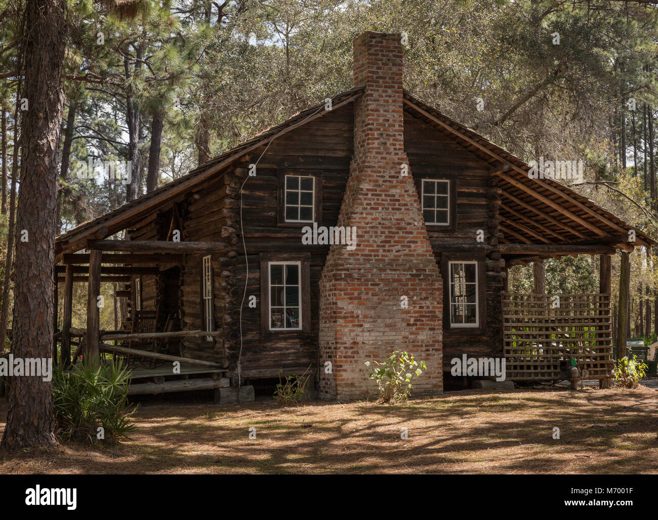 Old farm homestead relocated to heritage site at Sawgrass Lake Park, Florida - Stock Image