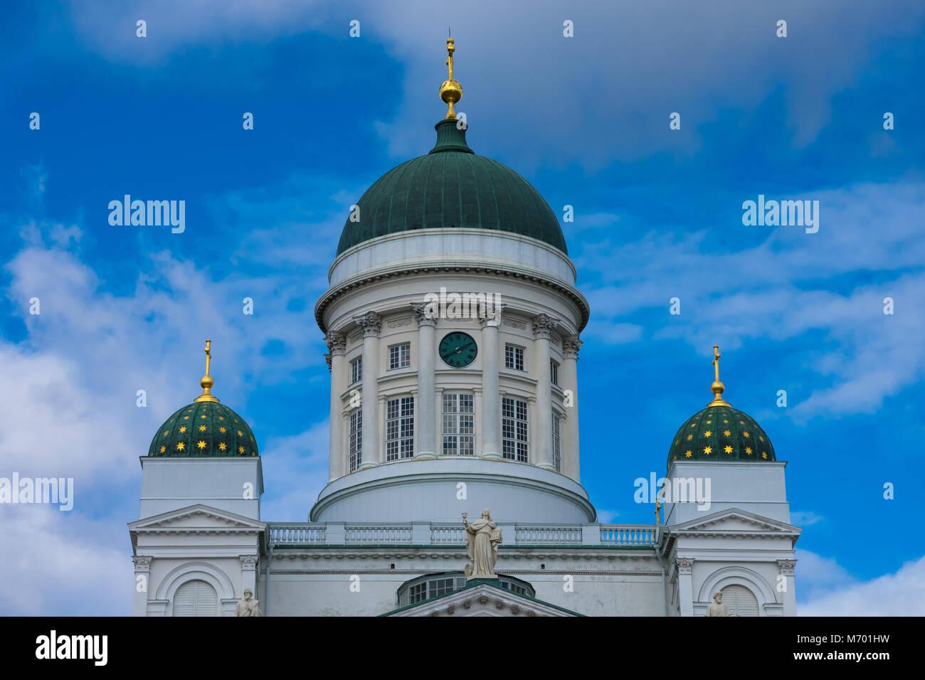 View of Helsinki Cathedral (Helsingin tuomiokirkko). Helsinki. Finland - Stock Image
