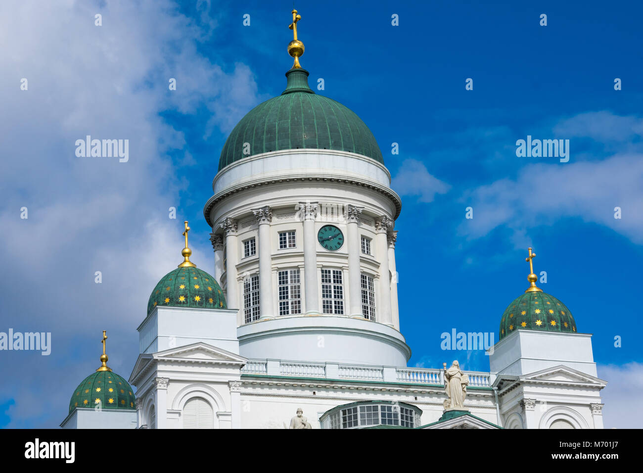 Helsinki Cathedral (Helsingin tuomiokirkko) is the Finnish Evangelical Lutheran cathedral of the Diocese of Helsinki - Stock Image