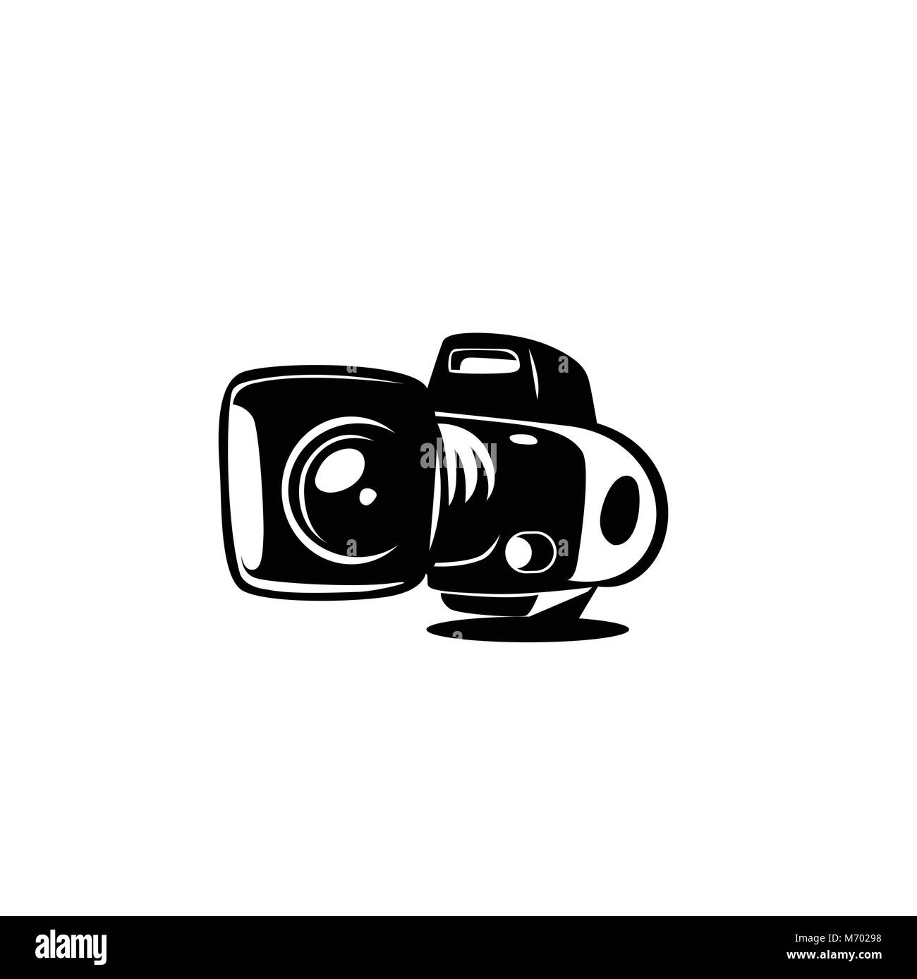 minimal logo of camera vector illutration. - Stock Image
