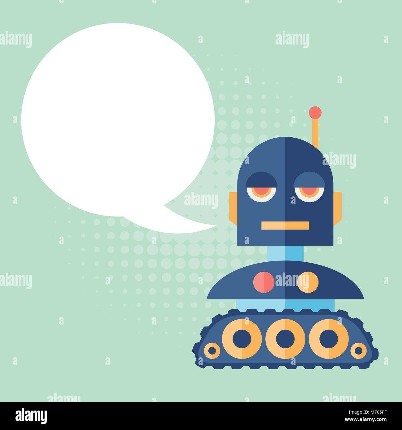 Design robot says something - Stock Vector