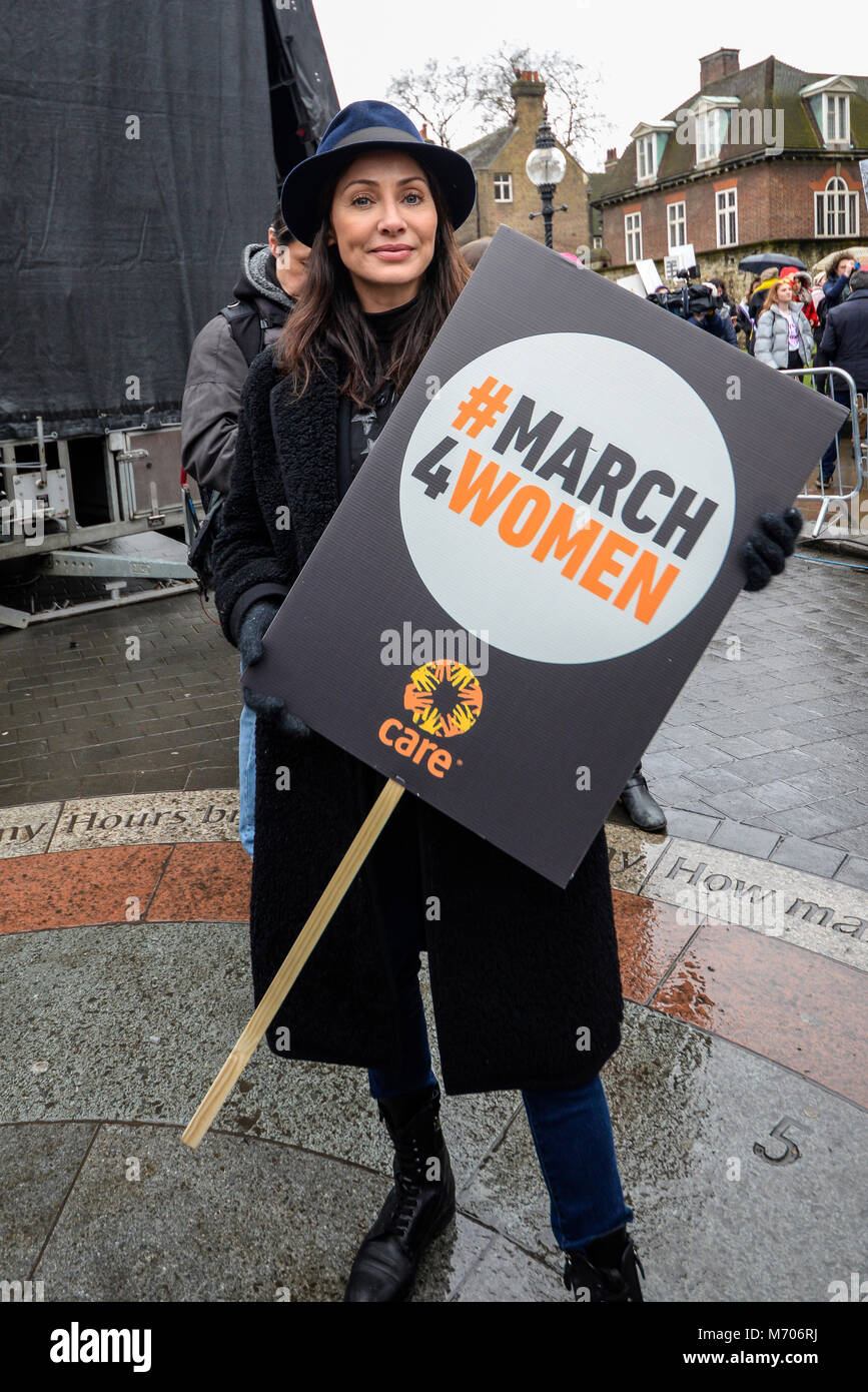 Natalie Imbruglia at the March 4 Women women's equality protest organised by Care International in London. Singer, - Stock Image