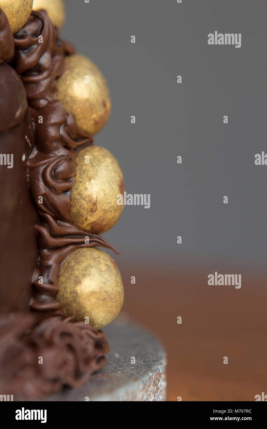 Homemade chocolate cake - Stock Image