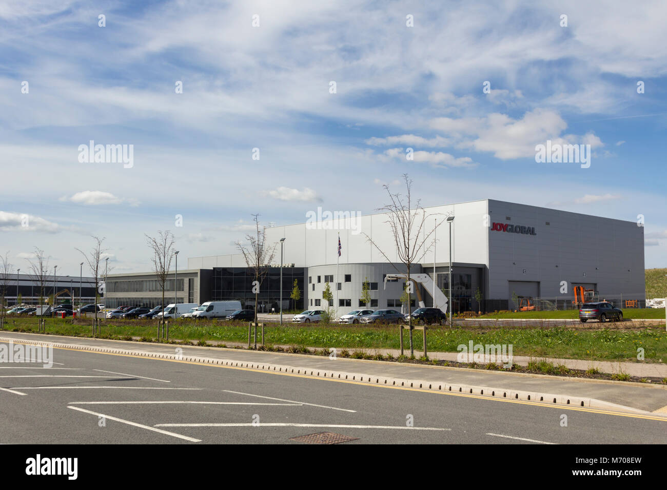 Newly built manufacturing facility for Joy Global mining equipment manufacturer at the Logistics North site, Bolton. - Stock Image
