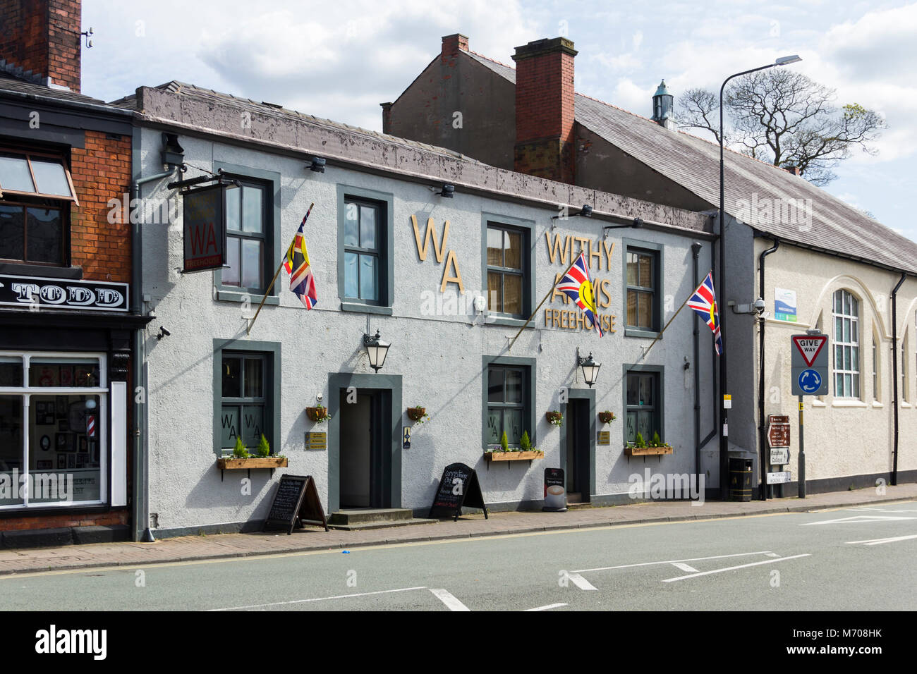Withy Arms Pub, Worden Lane, Leyland, Lancashire. A pub restaurant with specific policies on no swearing, no urban - Stock Image