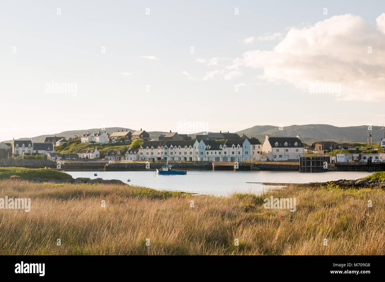 Lochboisdale South Uist Ferry Terminal, Isle of South Uist, Outer Hebrides, Scotland, UK - Stock Image