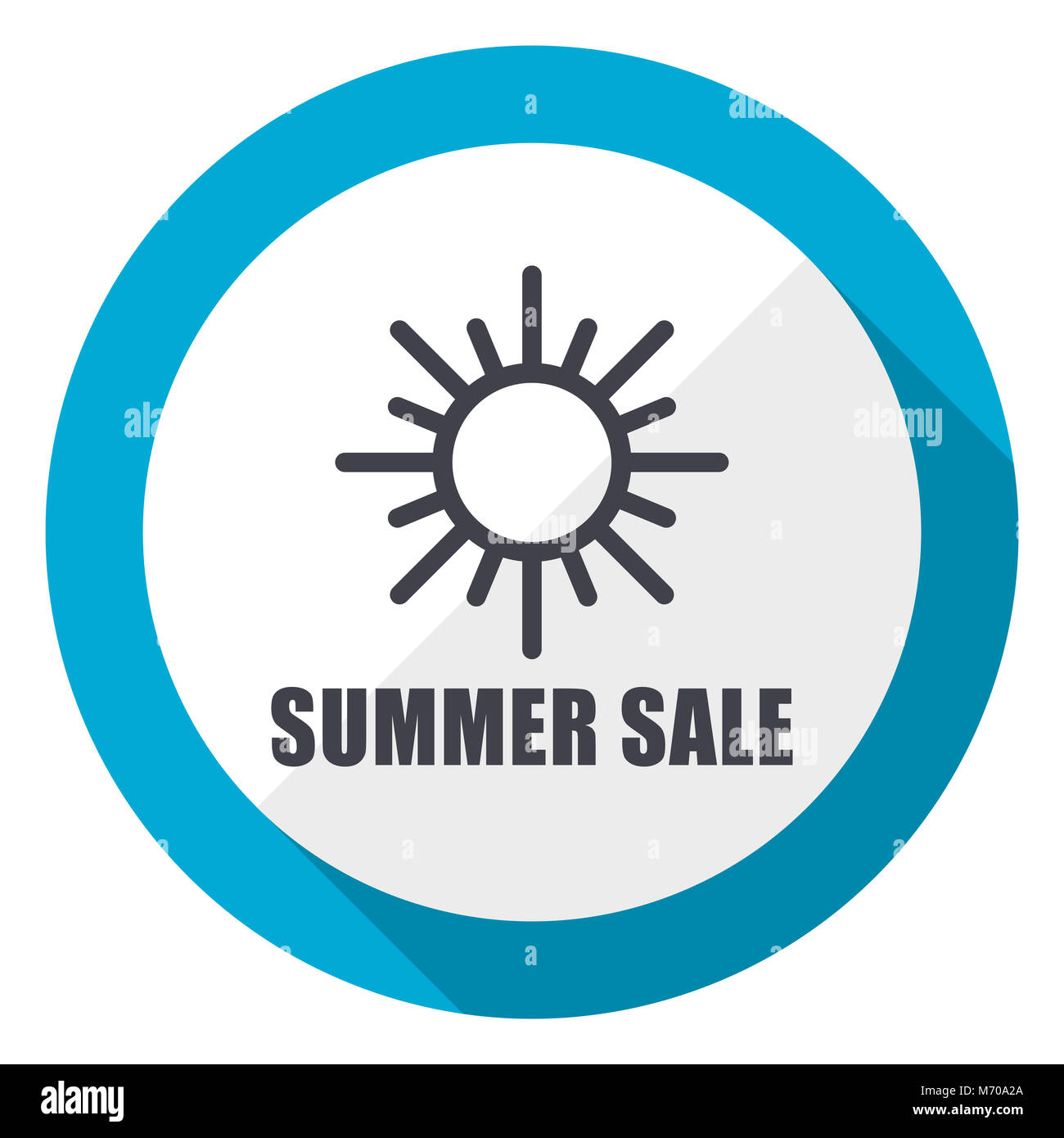 Summer sale blue flat design web icon - Stock Image