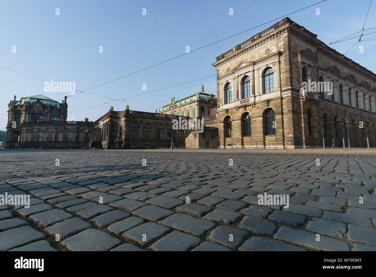 old town of dresden blue sky - Stock Image