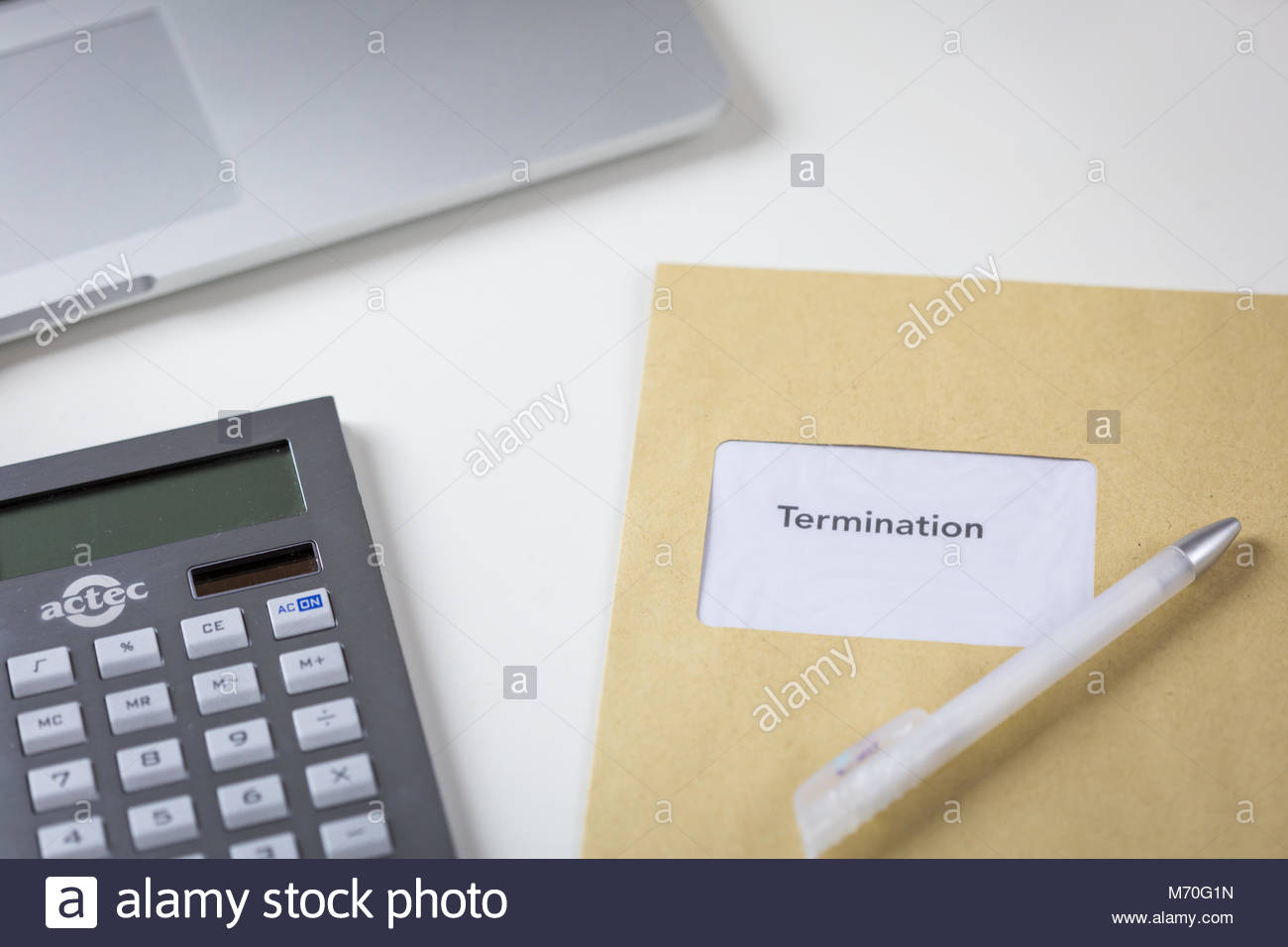 Termination or redundancy letter in an envelope - Stock Image