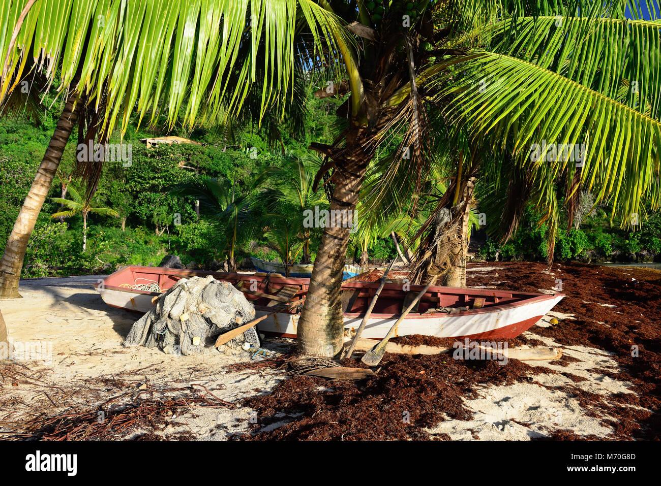 The Rincon beach on Dominican Republic. - Stock Image