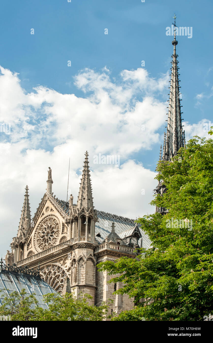 PARIS, FRANCE:  Notre-Dame Cathedral on the Ile de la Cite - Stock Image