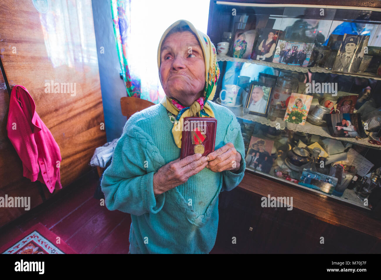 Ukraine, Chernobyl Exclusion Zone: people who came back to the exclusion zone after the Chernobyl nuclear disaster - Stock Image