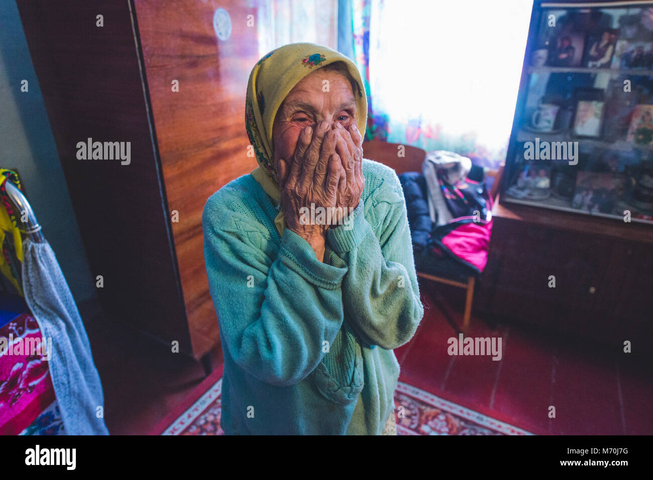 Ukraine, Chernobyl Exclusion Zone: people who came back to the exclusion zone after the Chernobyl nuclear disaster Stock Photo