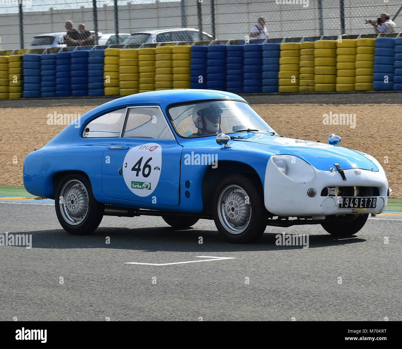 Charly Rempai, Gerard Dantan, Gilbert Lenoir, DB HBR5, 1949 ET 78, Le Mans Classic 2014, 2014, circuit racing, Classic, - Stock Image