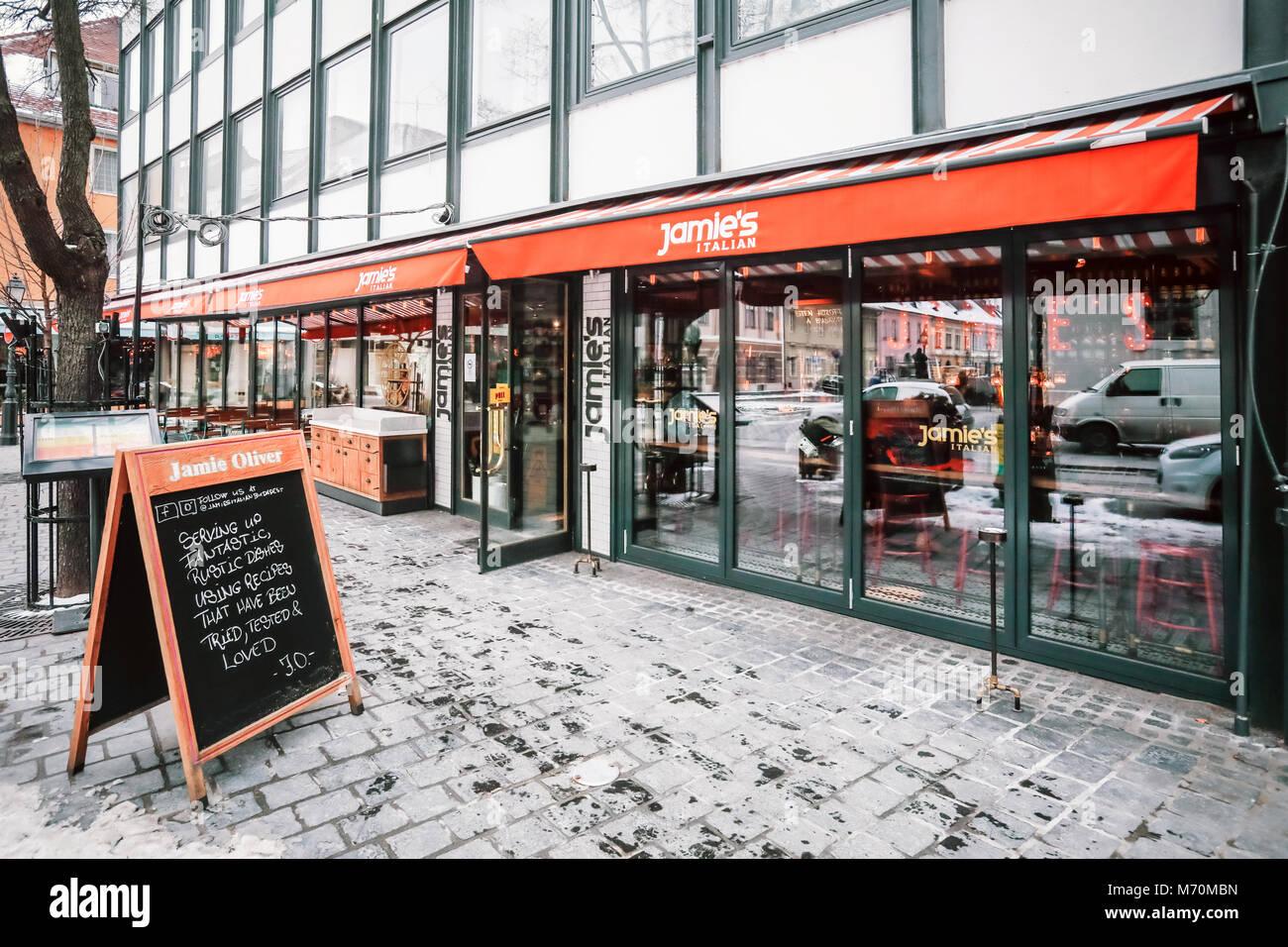 Jamies Italian Restaurant In Budapest Hungary Exterior In Stock