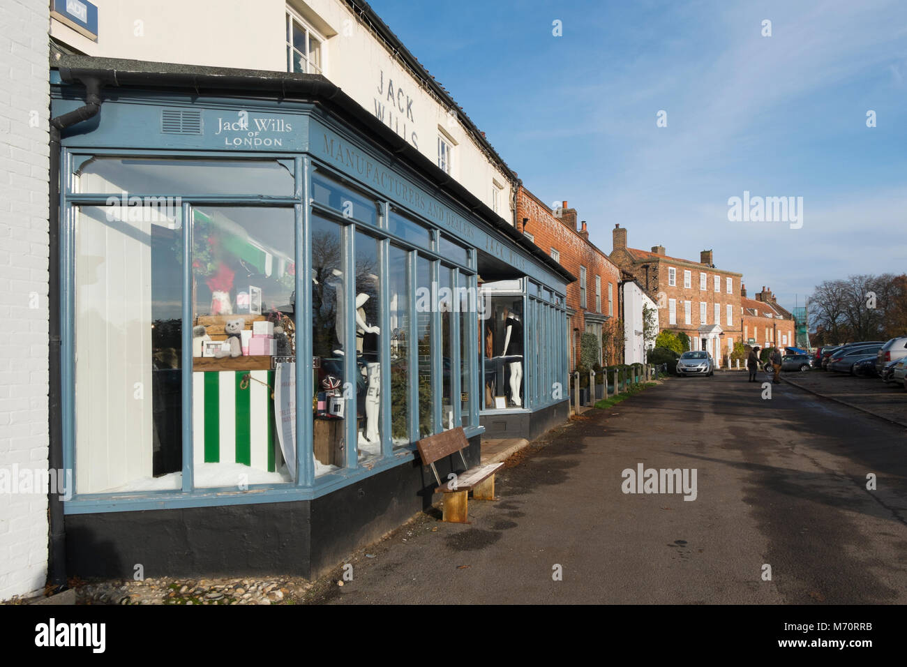 Jack Wills, contemporary clothing shop in Burnham Market, North Norfolk, UK - Stock Image