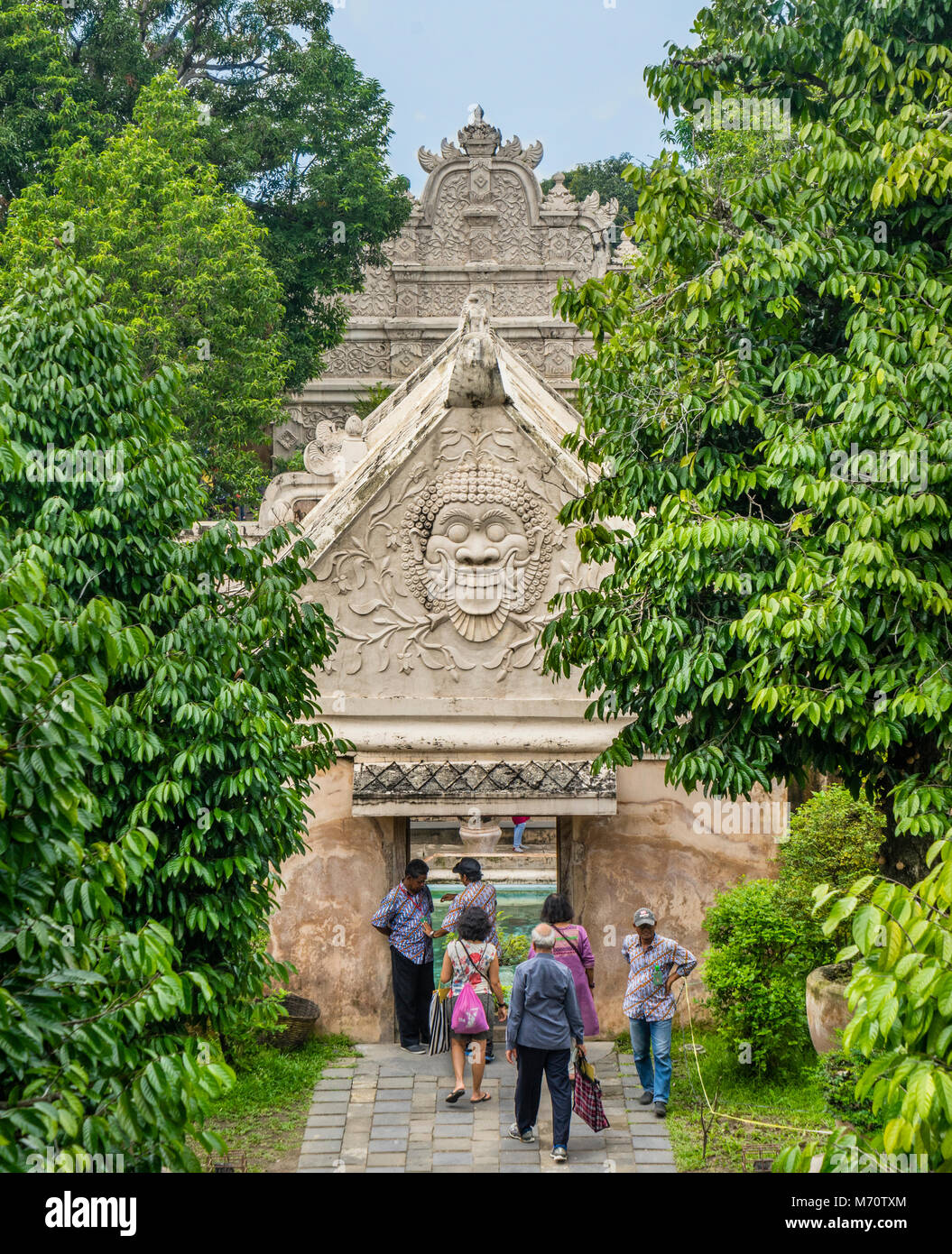 entrance gate to the Taman Sari Water Castle, the site of a former royal garden of the Sultanate of Yogyakarta, - Stock Image