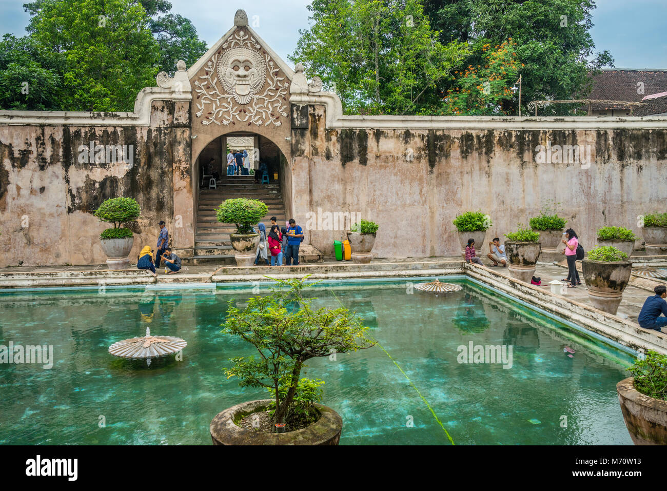 bathing complex of the Taman Sari Water Castle, the site of a former royal garden of the Sultanate of Yogyakarta, - Stock Image