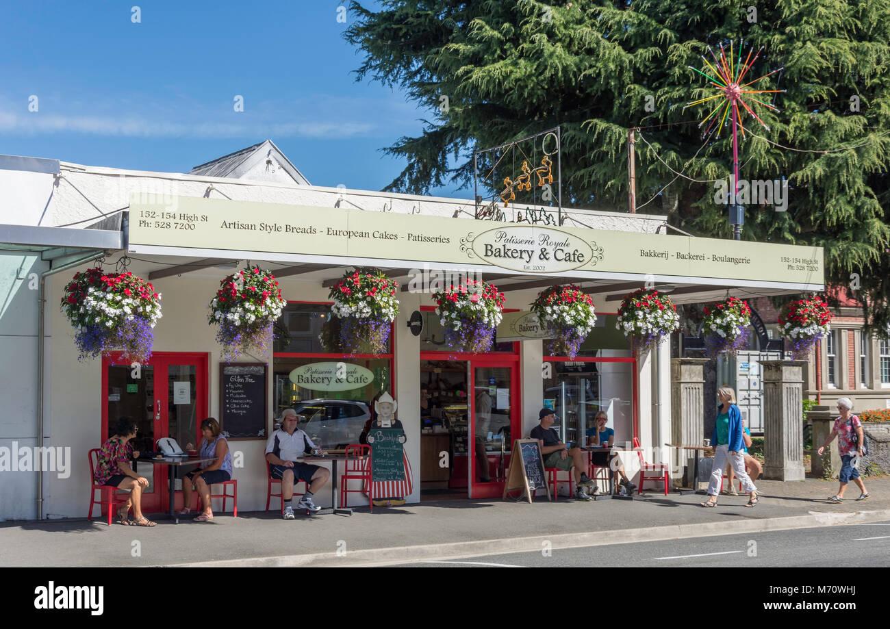 Patisserie Royale Bakery & Cafe, High Street, Motueka, Tasman District, New Zealand - Stock Image