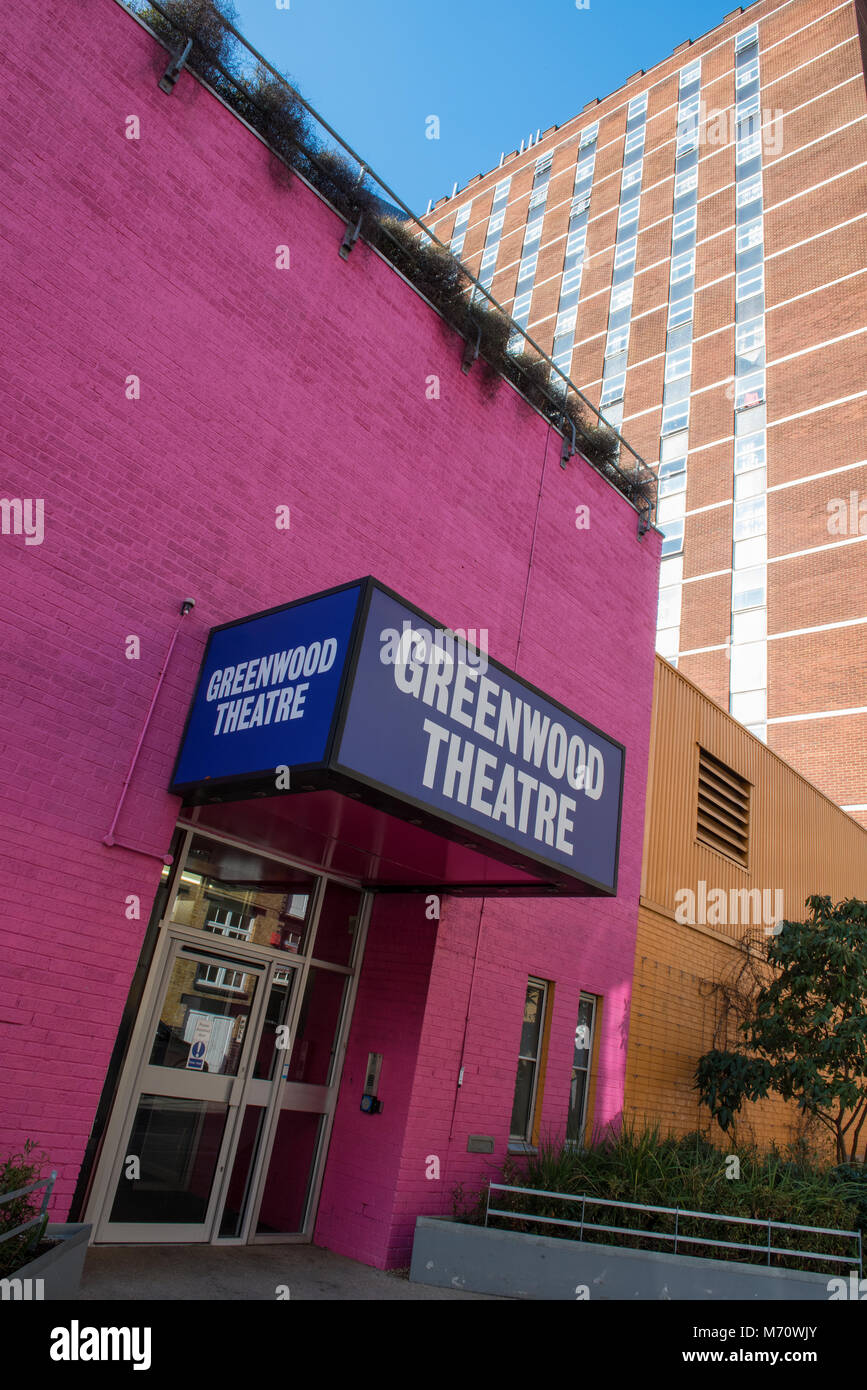 the greenwood theatre in Bermondsey central London. entertainment venues in the capital city for actors and entertainers. - Stock Image