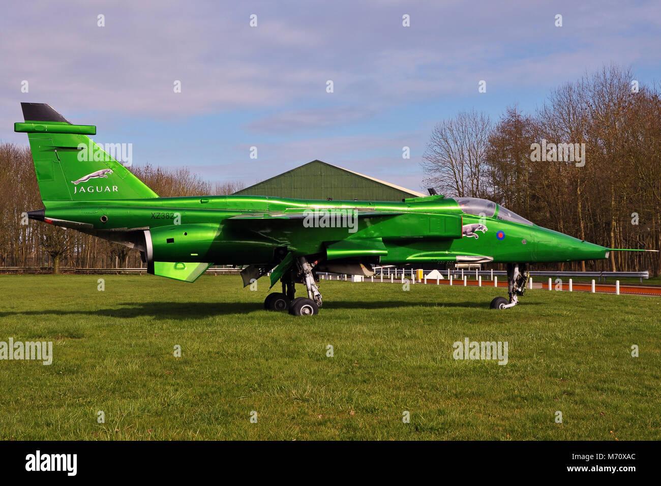 SEPECAT Jaguar at RAF Bruntingthorpe UK - Stock Image