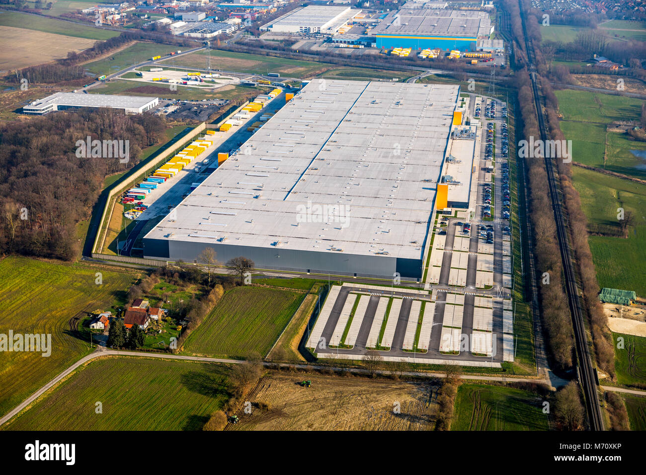 AMAZON Logistic, new logistics center, of the, online-dealer, in Werne. Online trade, Werne, Ruhr area, North Rhine - Stock Image