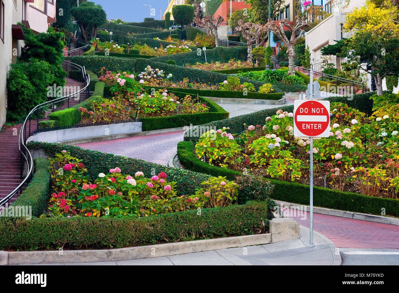 Lombard Street in San Francisco - Stock Image
