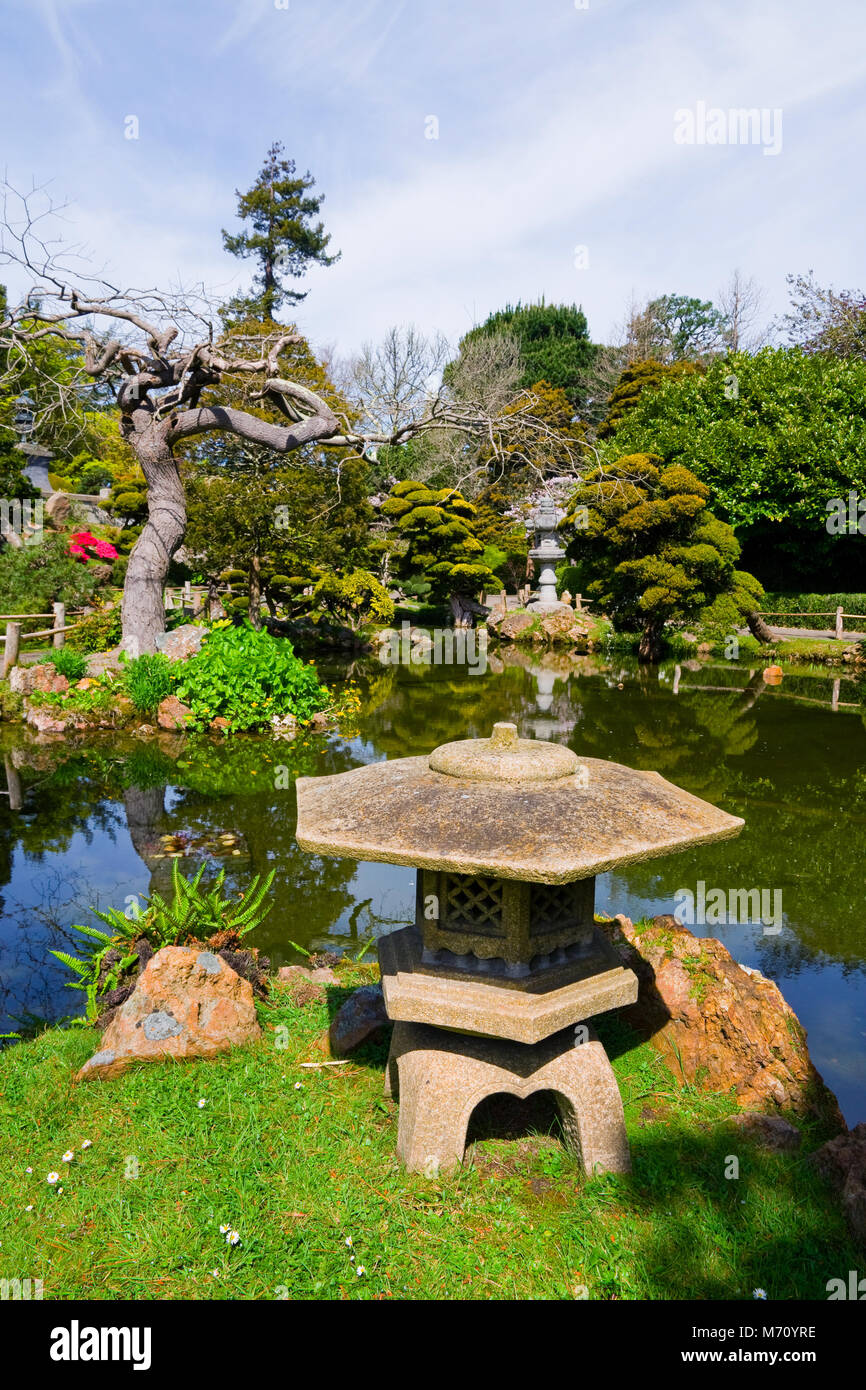 Japanese Tea Garden in San Francisco - Stock Image