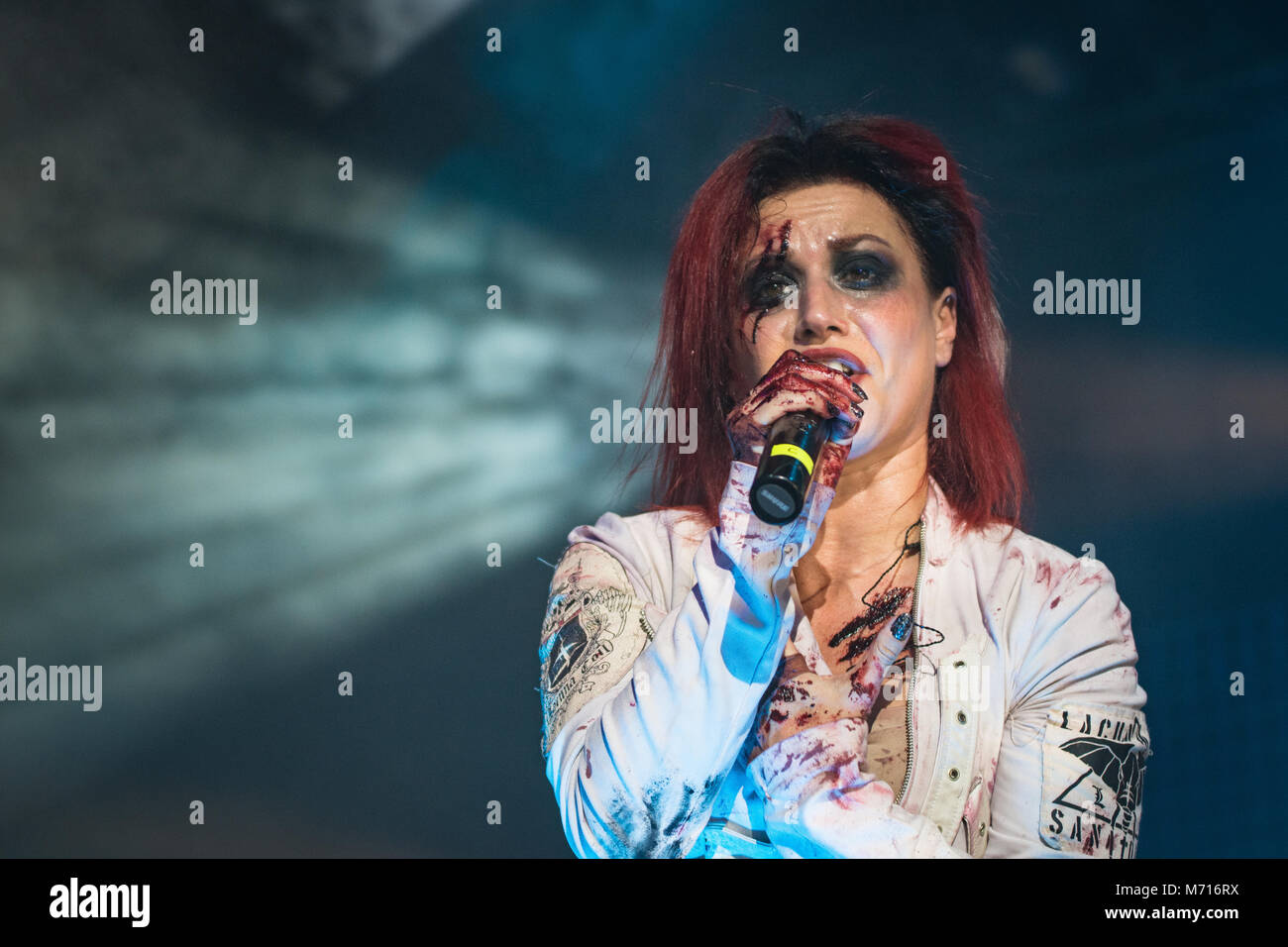 Milan, Italy. 11 November 2016. Italian rock metal band Lacuna Coil performs at Live Music Club. Brambilla Simone - Stock Image