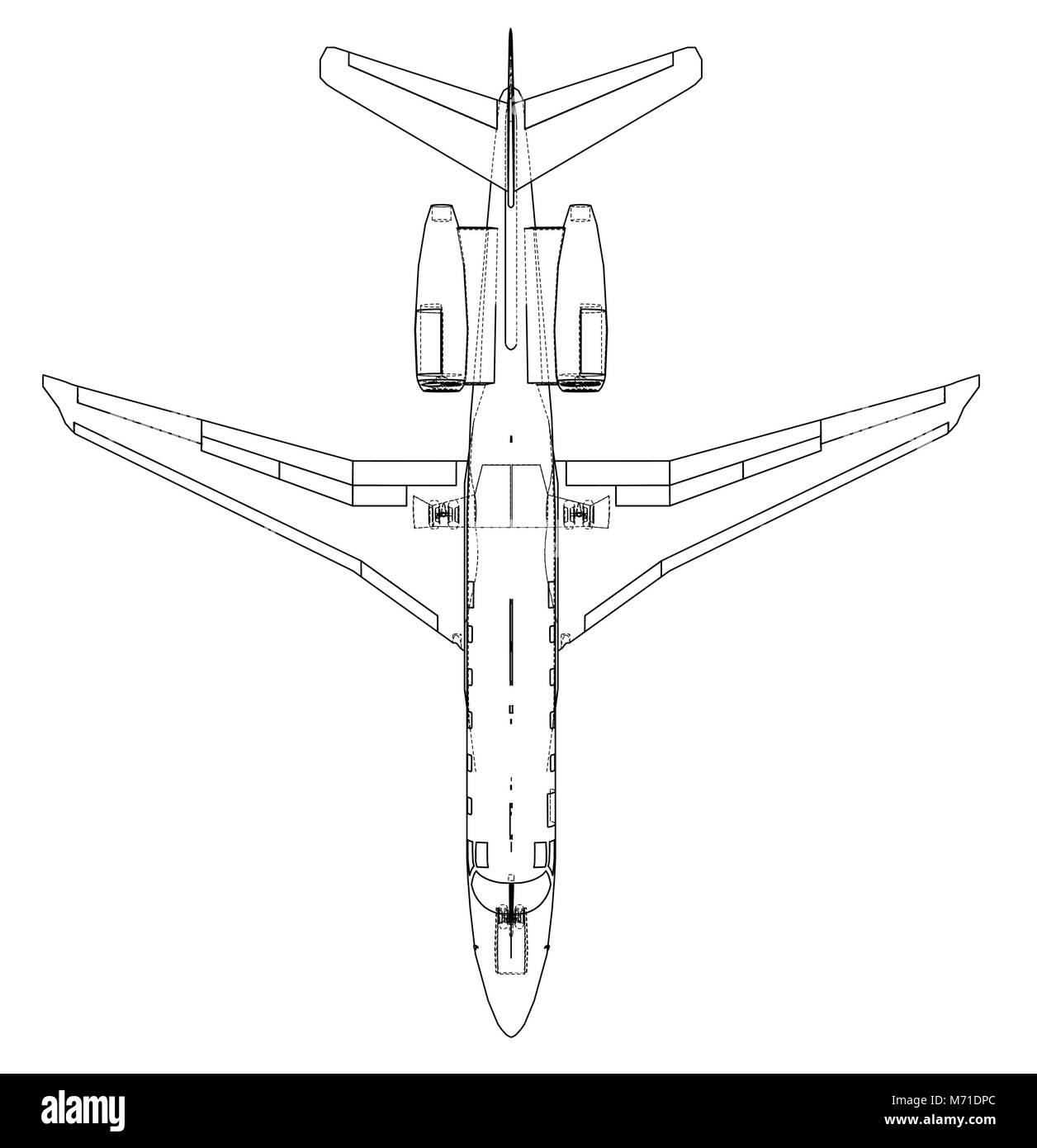 Airplane blueprint vector stock vector art illustration vector airplane blueprint vector malvernweather Choice Image