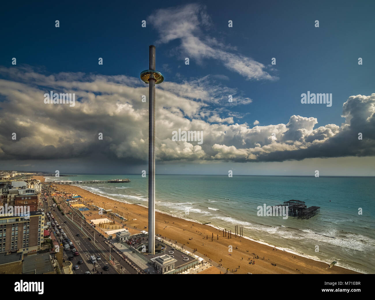 Brighton from above - Stock Image