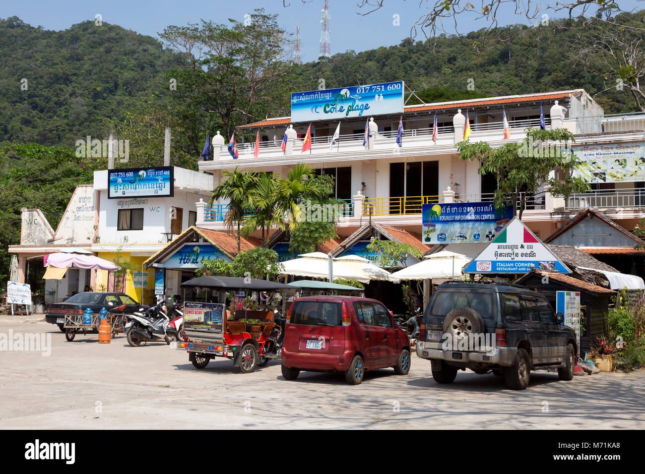 Hotel de la Plage, Kep Beach hotel, Kep, Cambodia Asia - Stock Image