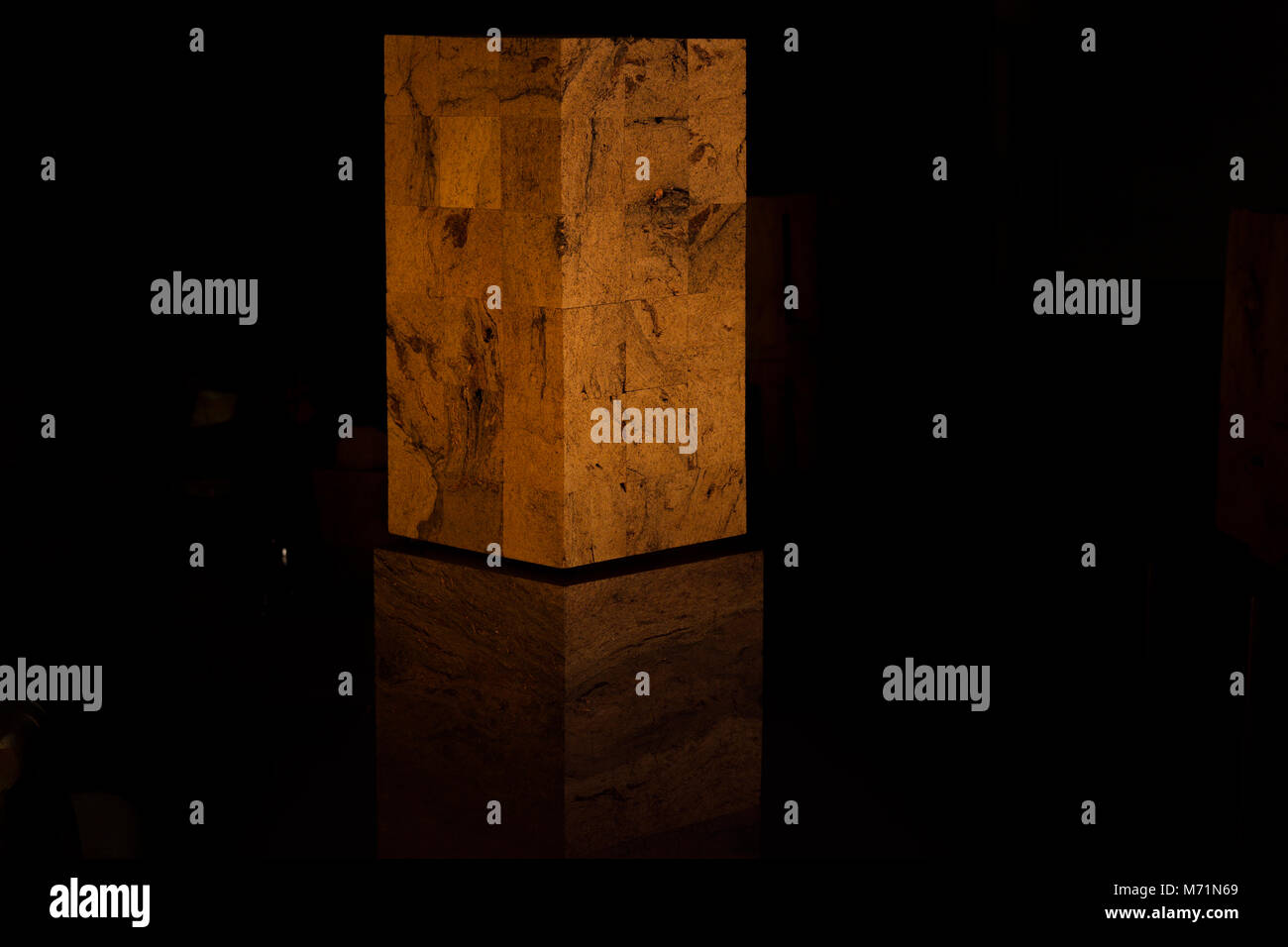 Edgars Ameriks peat art gallery / artwork - Water - Stock Image