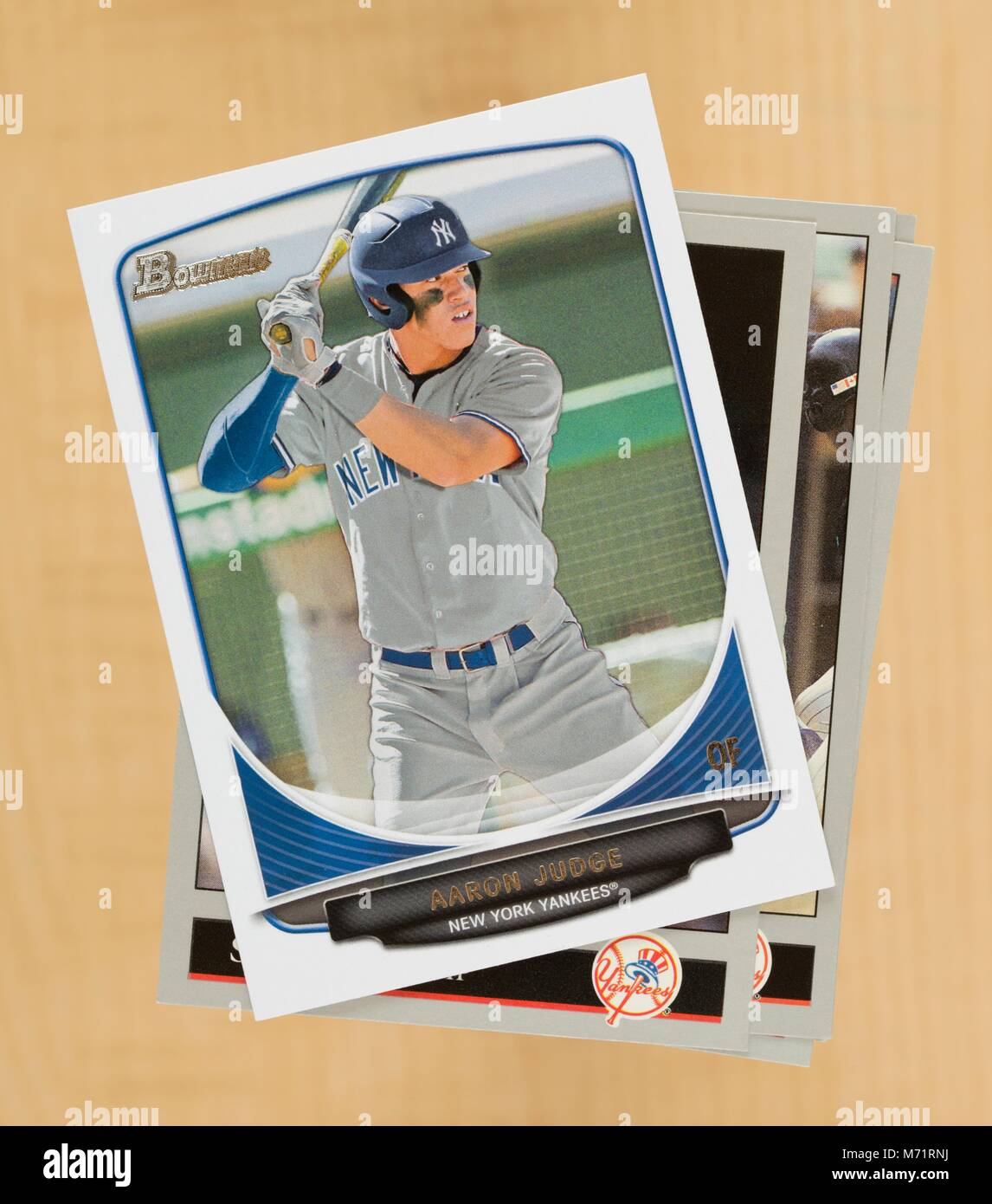 Aaron Judge Of The New York Yankees 2013 Bowman Rookie Card