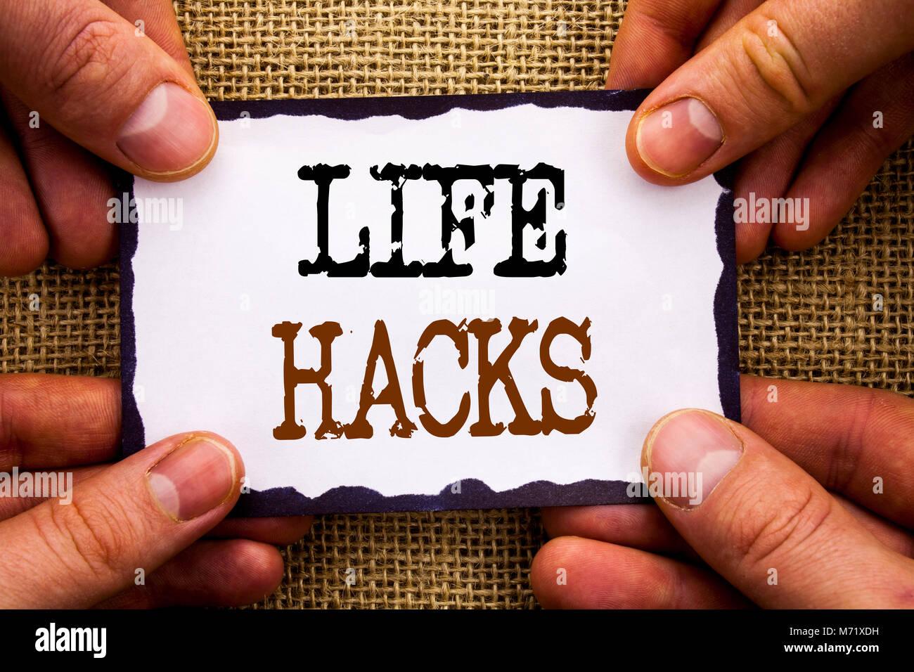 Word, writing, text Life Hacks  Conceptual photo Solution
