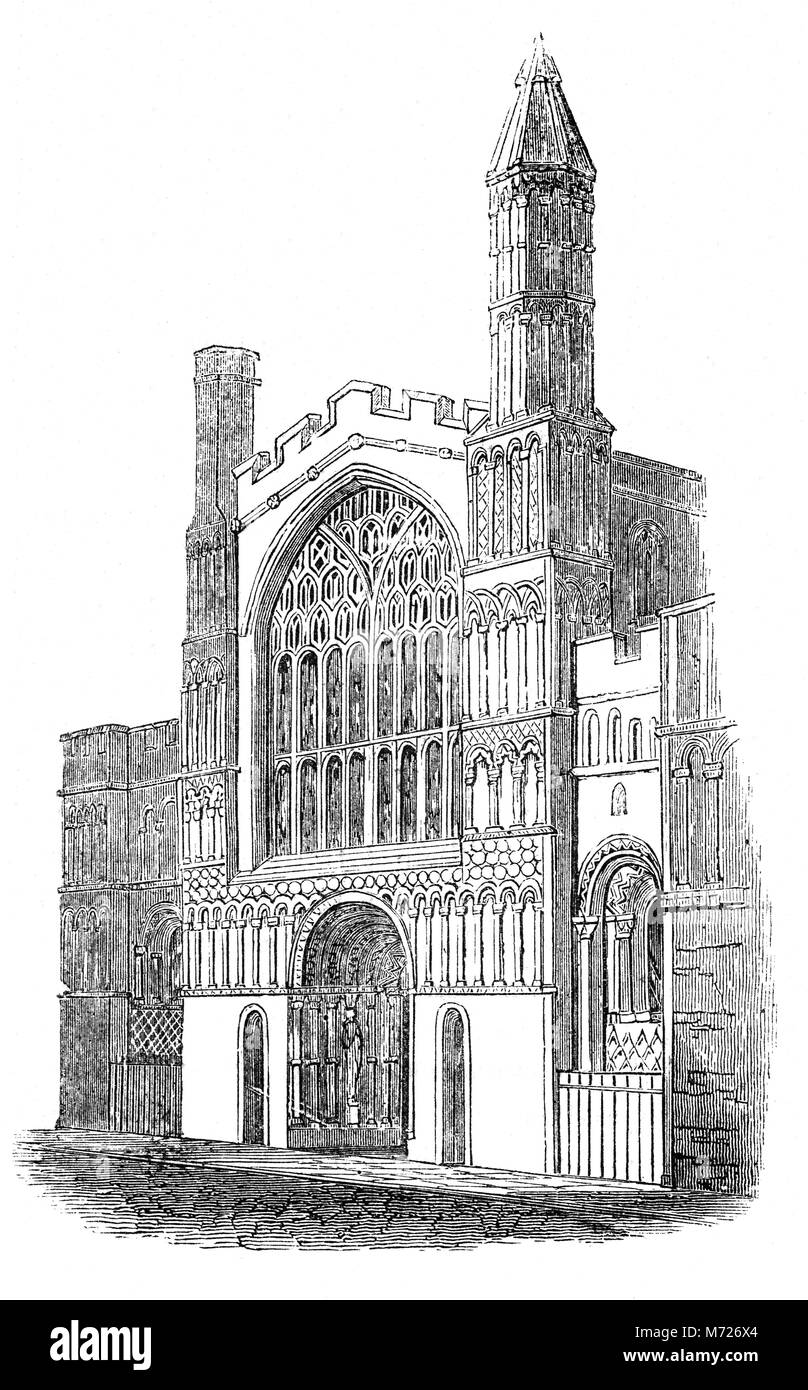Rochester Cathedral in Kent is England's second oldest, after Canterbury, having been founded in AD604 by Bishop - Stock Image