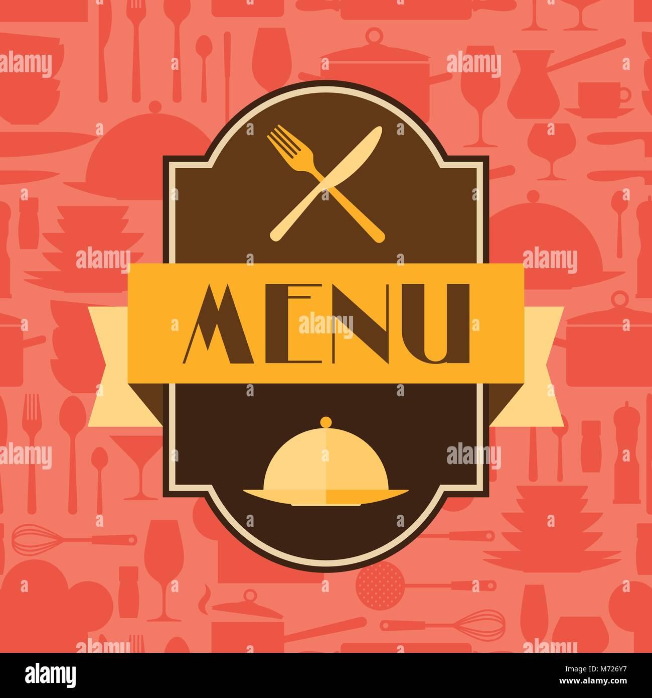 Restaurant Menu Background In Flat Design Style Stock Vector Image Art Alamy