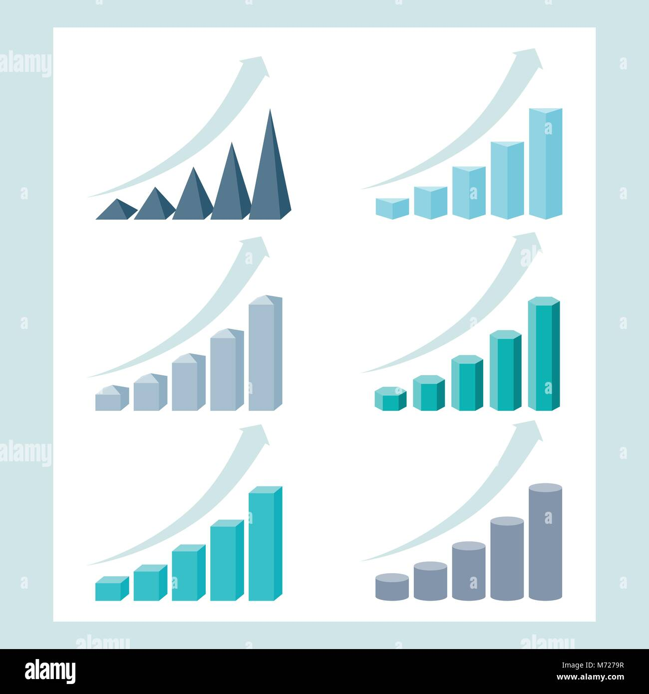 Set of infographic diagram elements for design Stock Vector